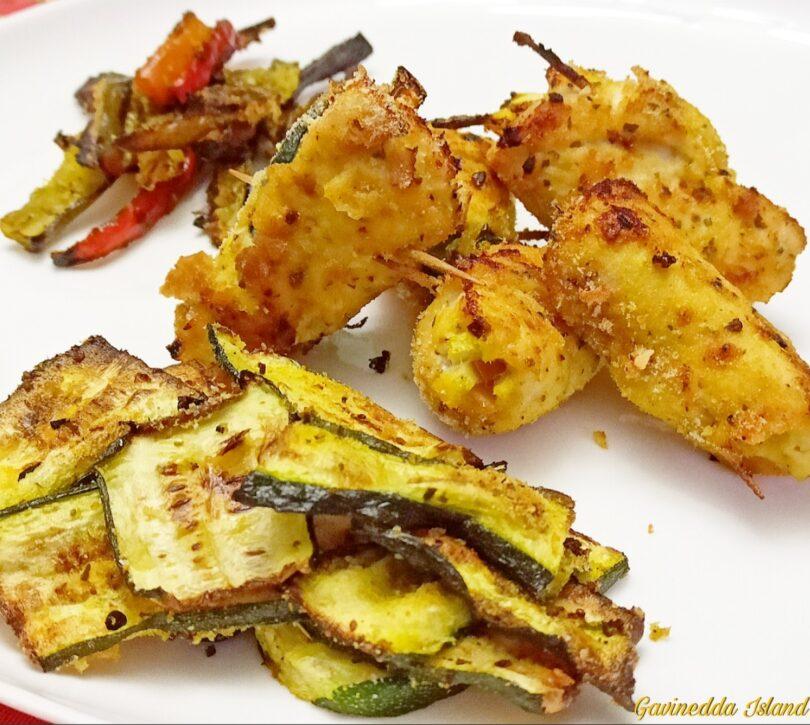 Involtini pollo e verdure