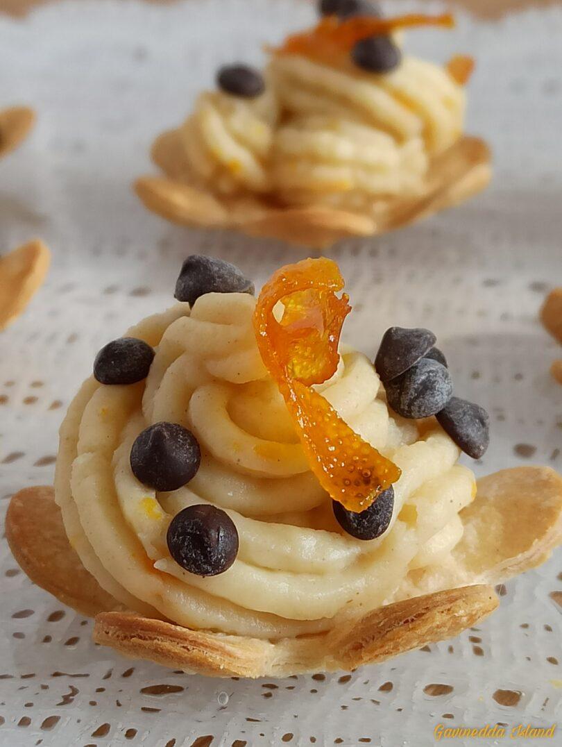 Tartellettes con crema all'arancia