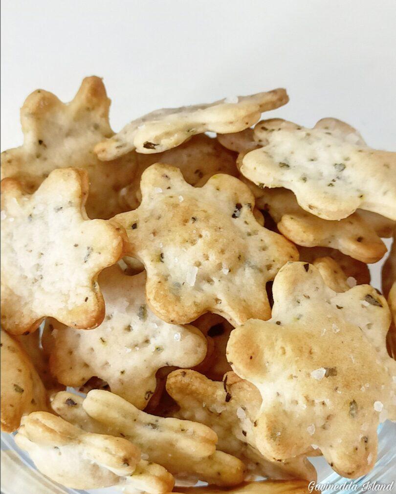 Crackers speziati con esubero di lievito madre