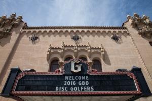 Granada Theatre Welcome Disc Golf Sign