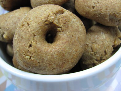 peanut butter honey bagels dog treat/biscuit recipe