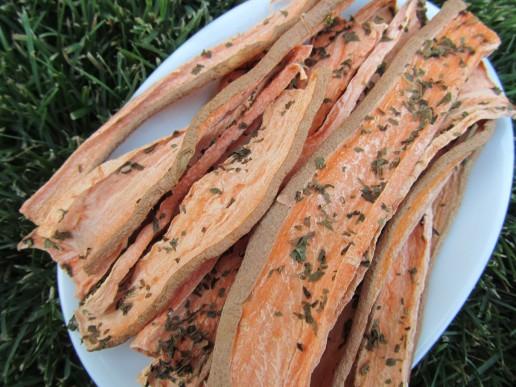 Mint Sweet Potato Chews Dog Treat Recipe