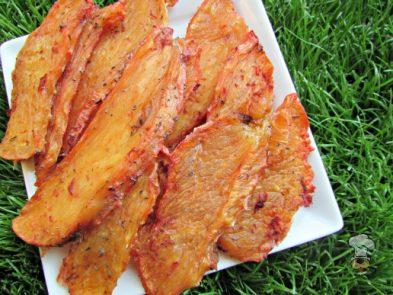 (dairy, gluten, grain and wheat-free) rosemary beet chicken jerky dog treat recipe
