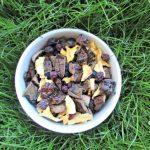 (dairy, gluten, grain and wheat-free) blueberry mango liver trail mix dog treat recipe