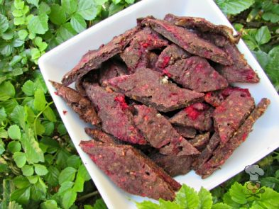 (wheat, gluten and grain-free) raspberry bacon parmesan dog treat/biscuit recipe