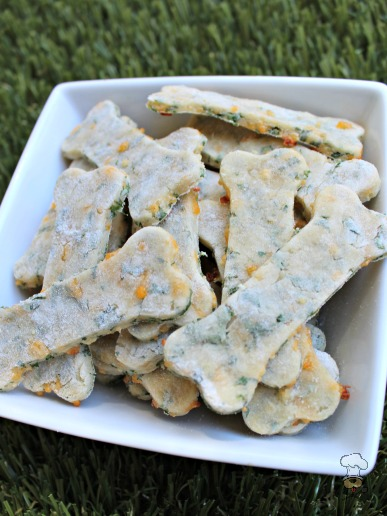 (wheat and gluten-free) cheese and parsley dog treat/biscuit recipe