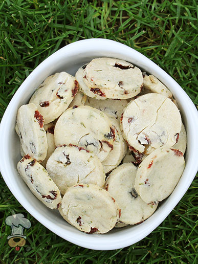 (wheat and gluten-free) cranberry goat cheese dog treat/biscuit recipe