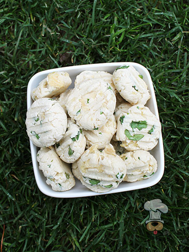 (gluten and wheat-free) creamy chicken cilantro dog treat/biscuit recipe