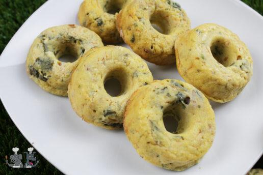 bacon & carrot collard green doughnuts dog treat recipe