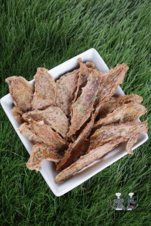 strawberry peanut butter chicken jerky dog treat recipe