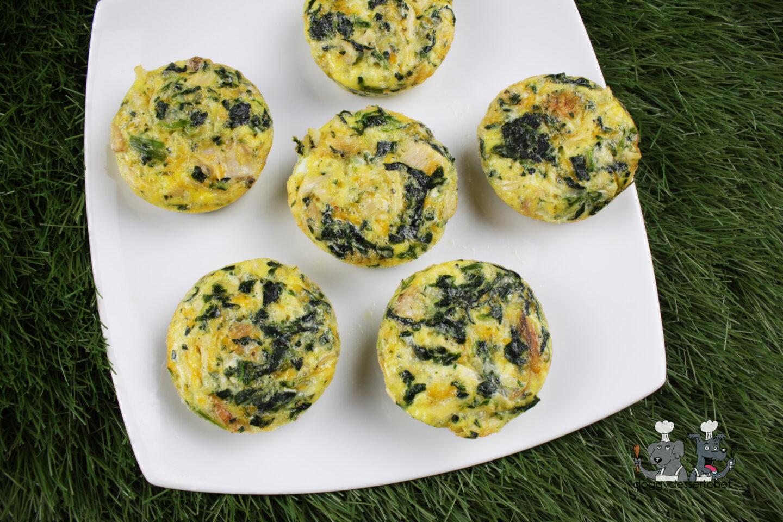 rabbit spinach mini-quiche dog treat recipe