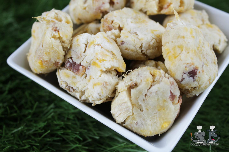 cheesy bacon rabbit dog treat recipe