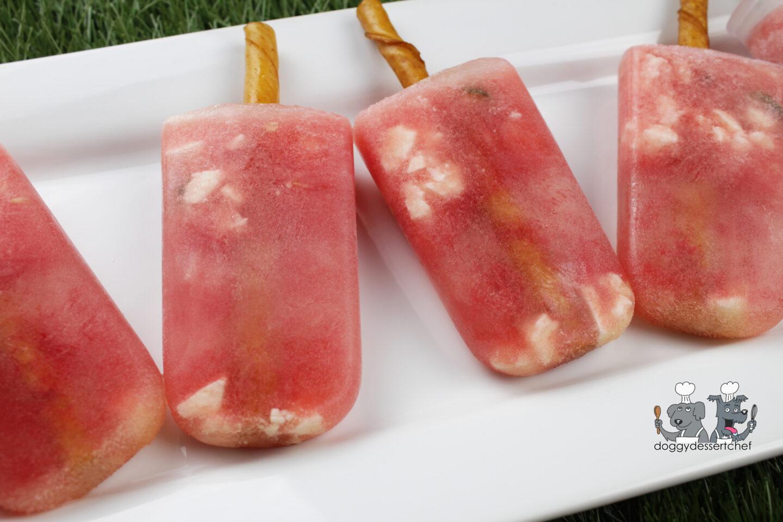 frozen watermelon feta mint dog treat recipe