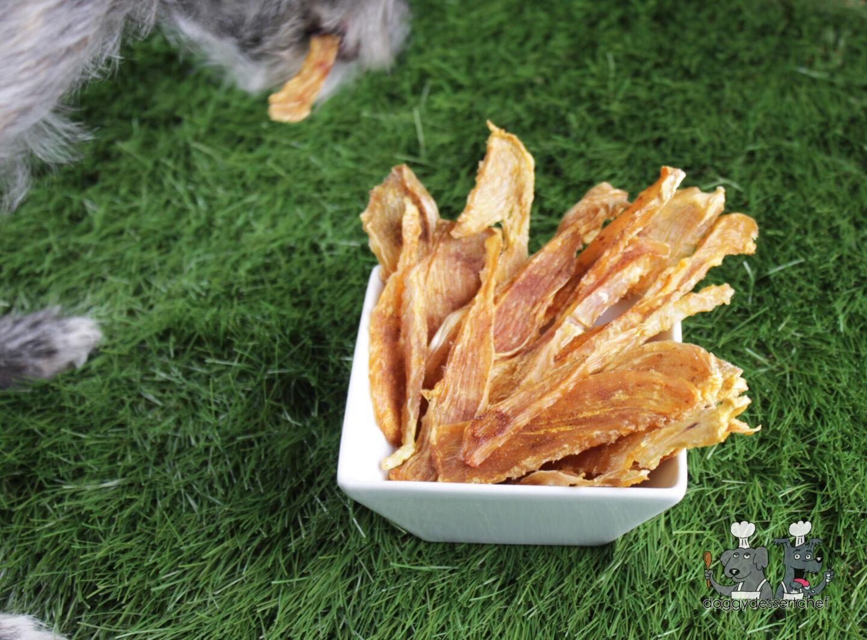 pumpkin spice chicken jerky dog treat recipe