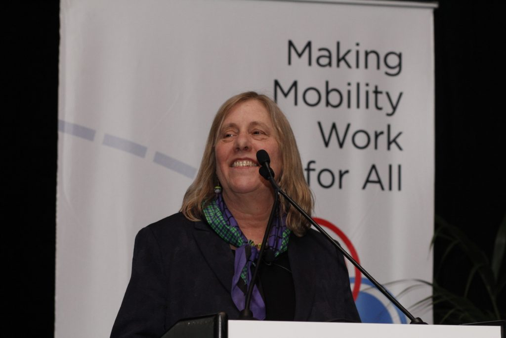 Sharon speaking at the 2019 Summit