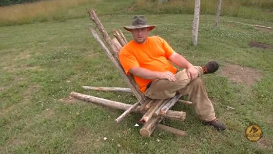 make a bushcraft chair