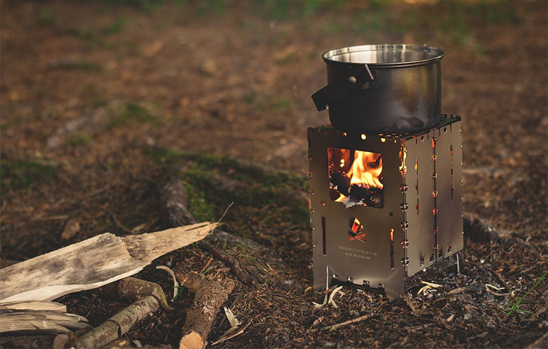 wood fire camp stove