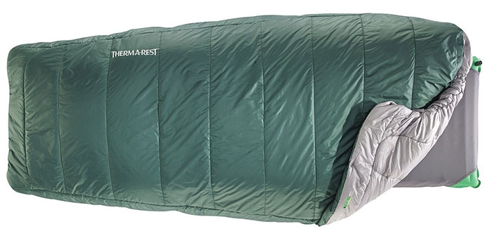 thermarest apogee quilt sleeping bag for camping