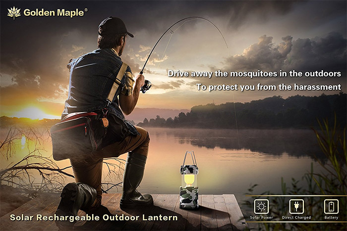 golden maple rechargeable mosquito lantern
