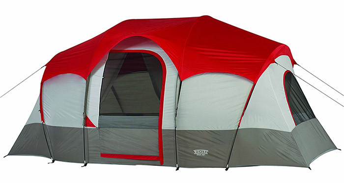 wenzel 12 person tent with 2 rooms