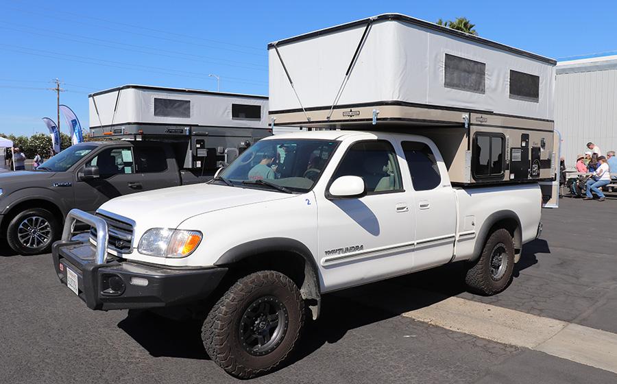 Custom Khaki Four Wheel Camper