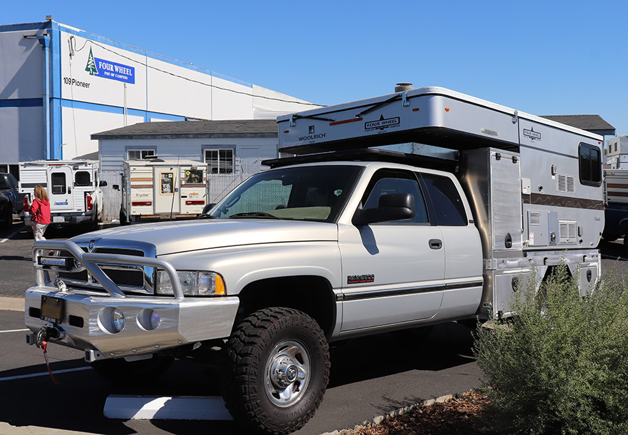 ram 2500 with four wheel camper