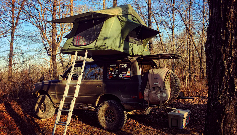 overland lexus lx 450 with tepui roof top tent