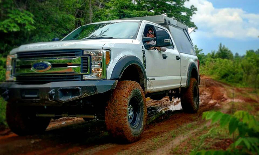 overland ford f250 stx in mud terrain