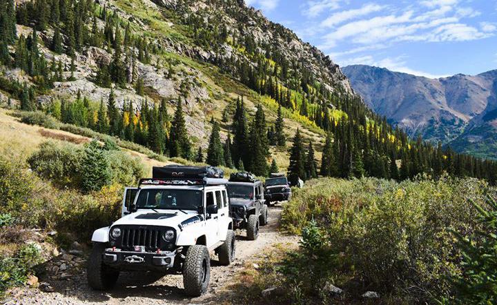 Jeep Rubicon overland trail