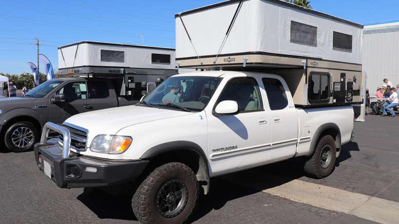 camper on a toyota tundra