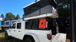 jeep gladiator cargo rack system with roof top tent