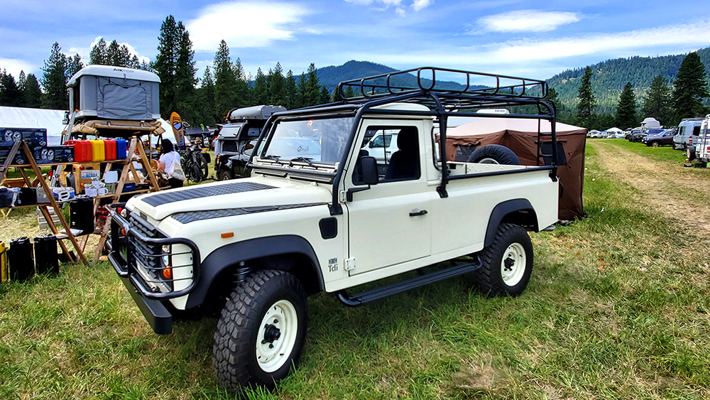 1989 land rover defender pickup 300tdi engine and safety devices roof rack