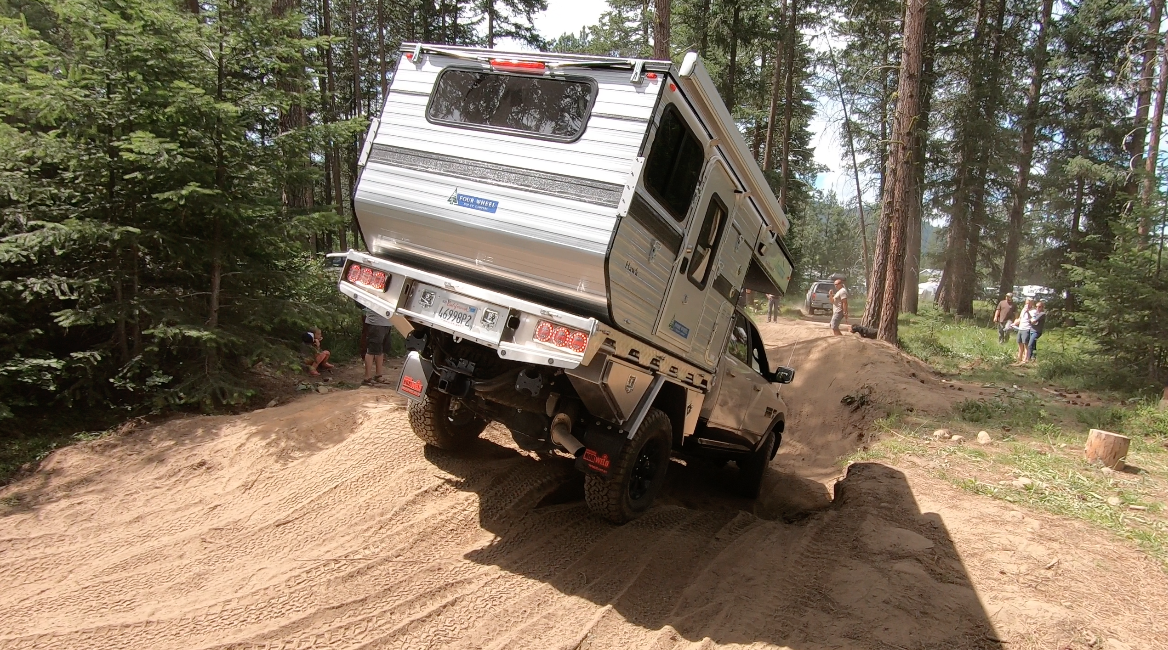 four wheel camper on northwest overland rally course