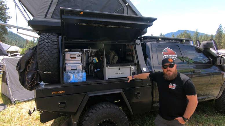 patriot camper pcor storage system on flatbed RAM 2500