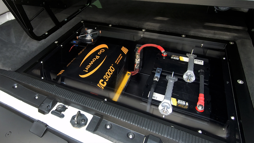go power solar system 3000 watt inverter battery tray