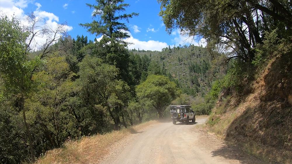 backcountry roads in a four wheel camper
