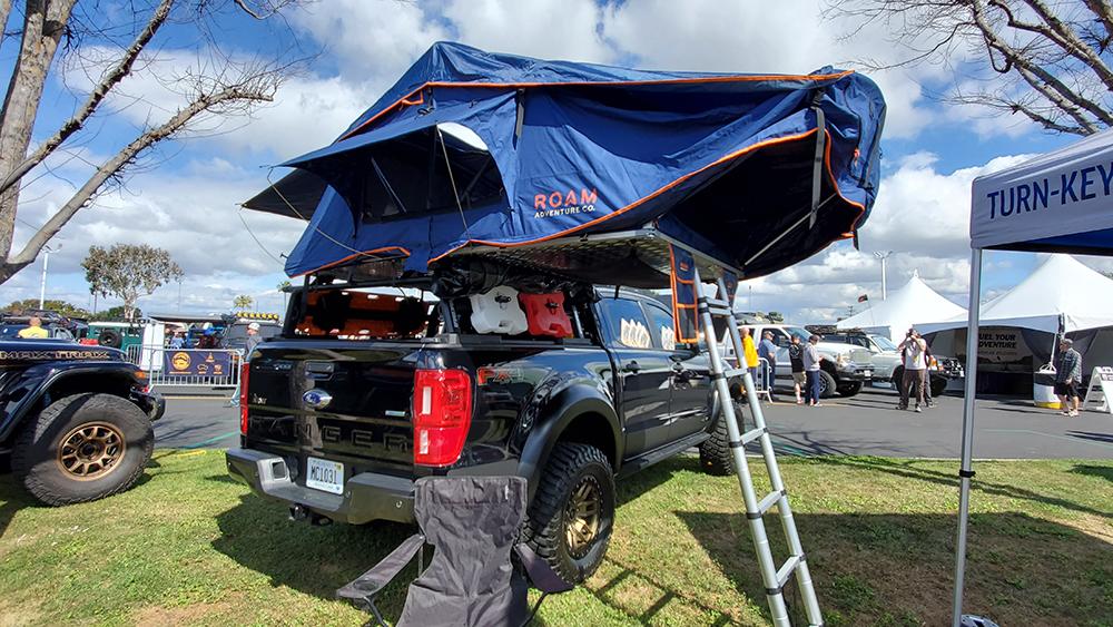 roam adventure roof top tent on ford ranger xlt