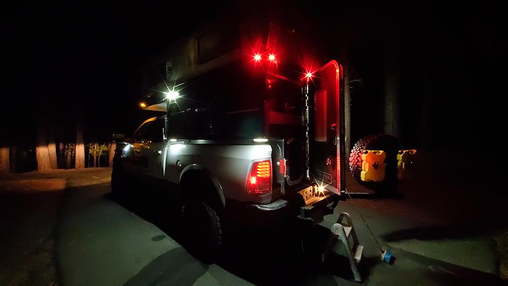 four wheel camper exterior night lights led
