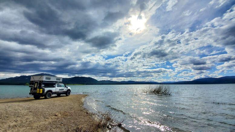 high sierra lake camping