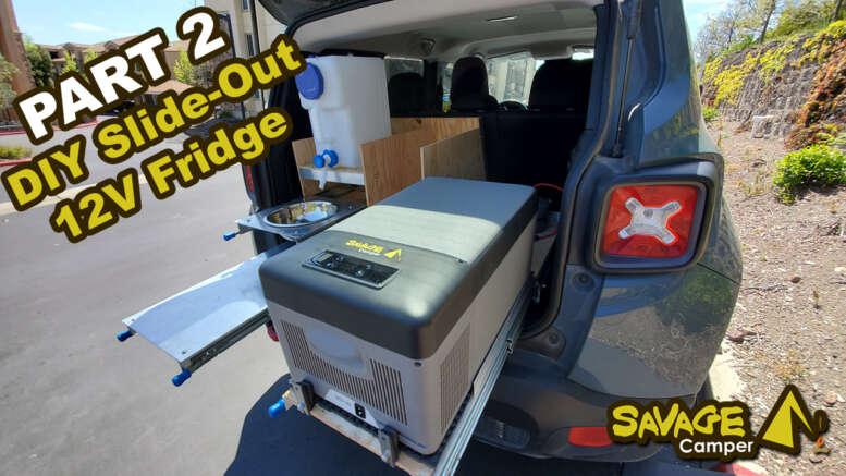 diy slide-out 12 volt fridge for an SUV