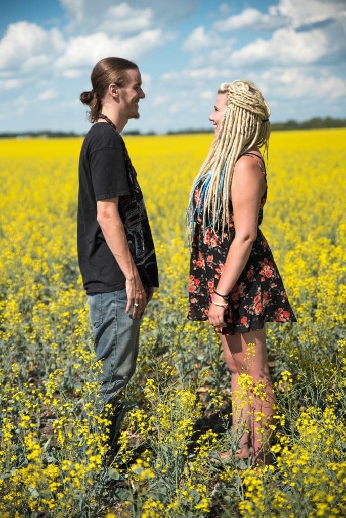 012-Edmonton Canola Field Engagement Couple Photography Session-