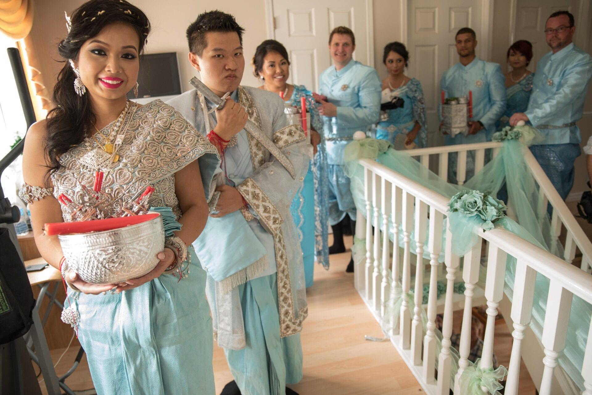 Cambodian Wedding Edmonton Calgary tying the knot