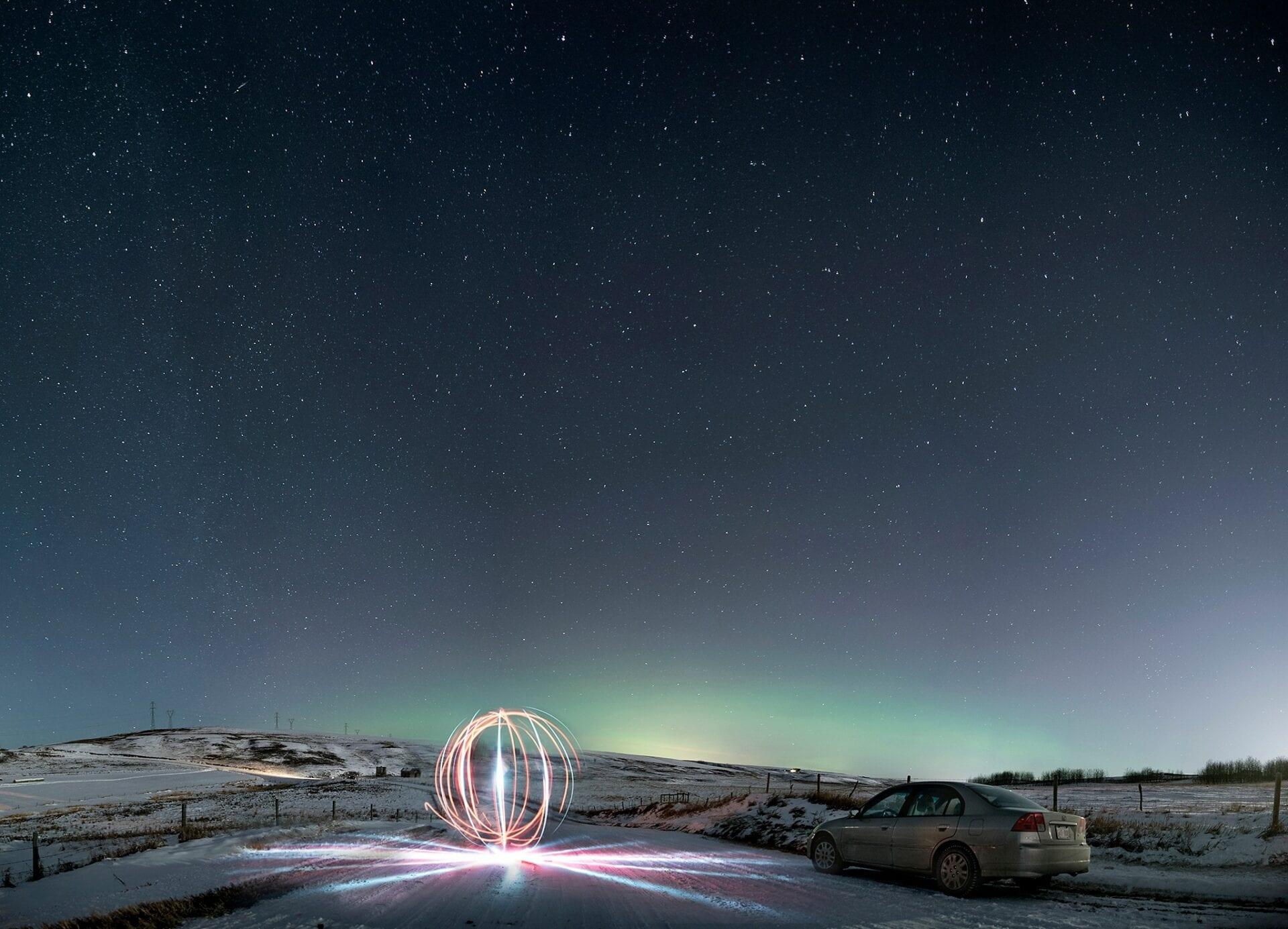 Edmonton Calgary Airdrie Aurora Northern Lights Light painting-_0002