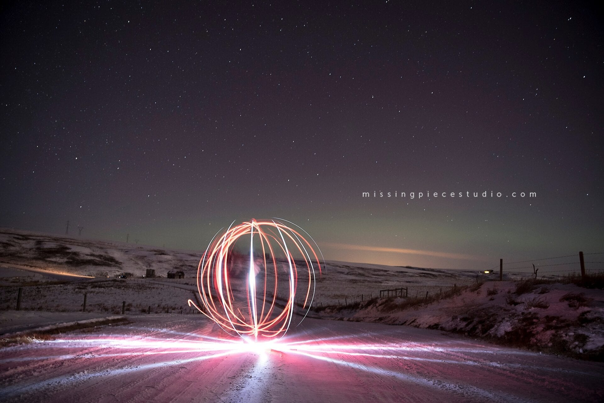 Edmonton Calgary Airdrie Aurora Northern Lights Light painting-_0003
