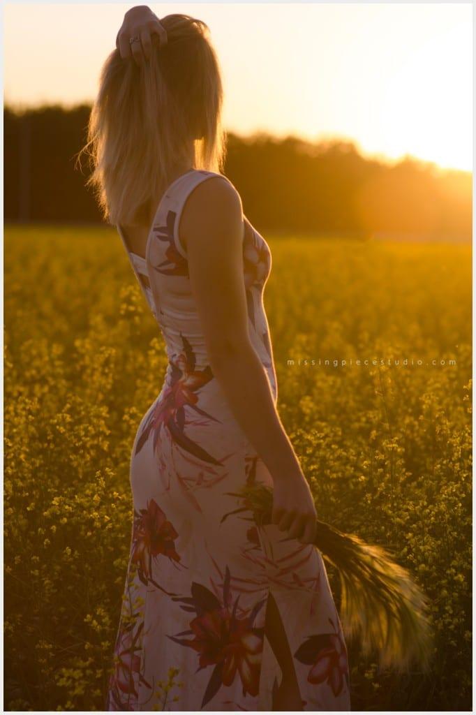 Edmonton Fashion Canola-Field-Portrait-Dress