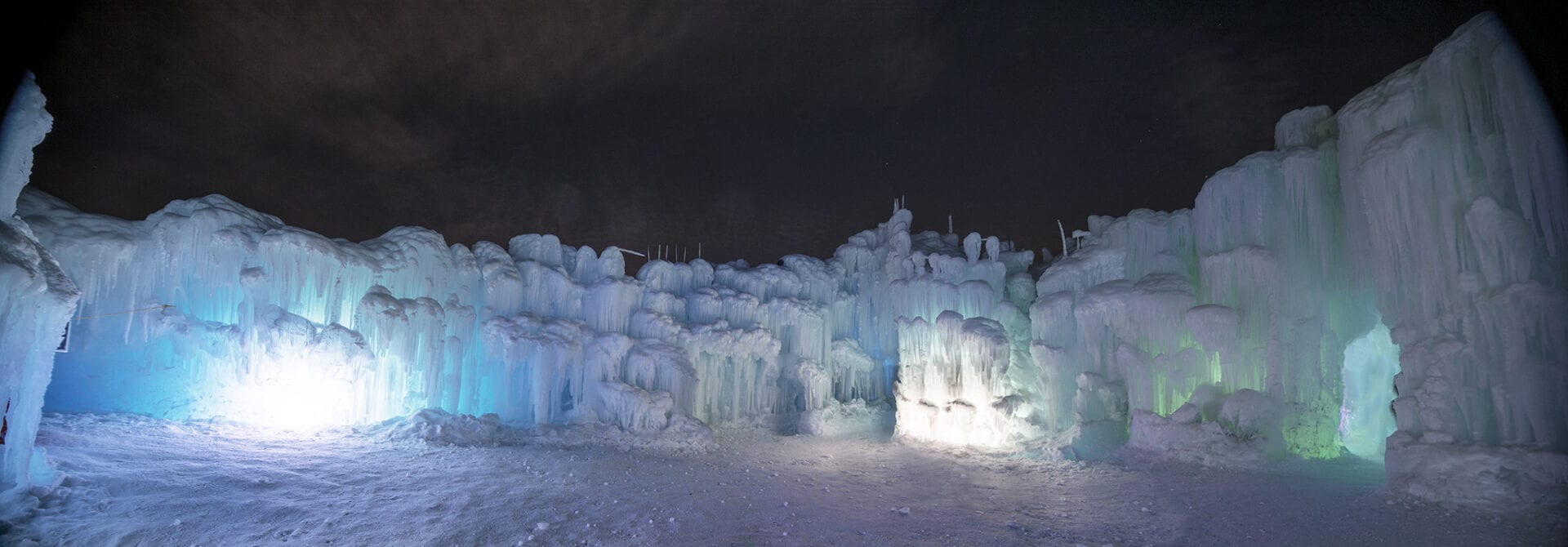 edmonton ice castles panorama