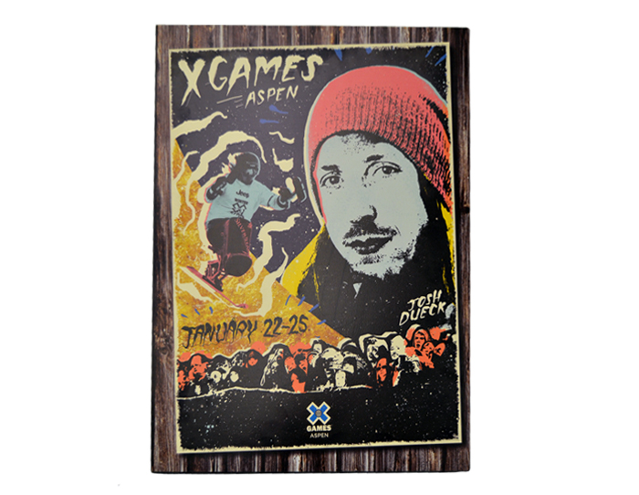 ESPN X-Games Wooden Mounted Poster