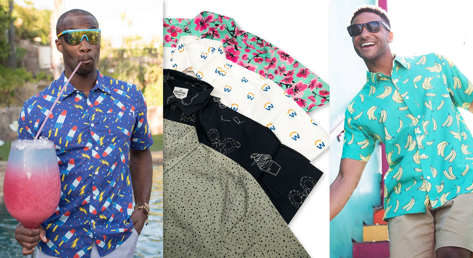 The Shirt of the Summer – 100% Cotton Button Downs with Allover Imprinting