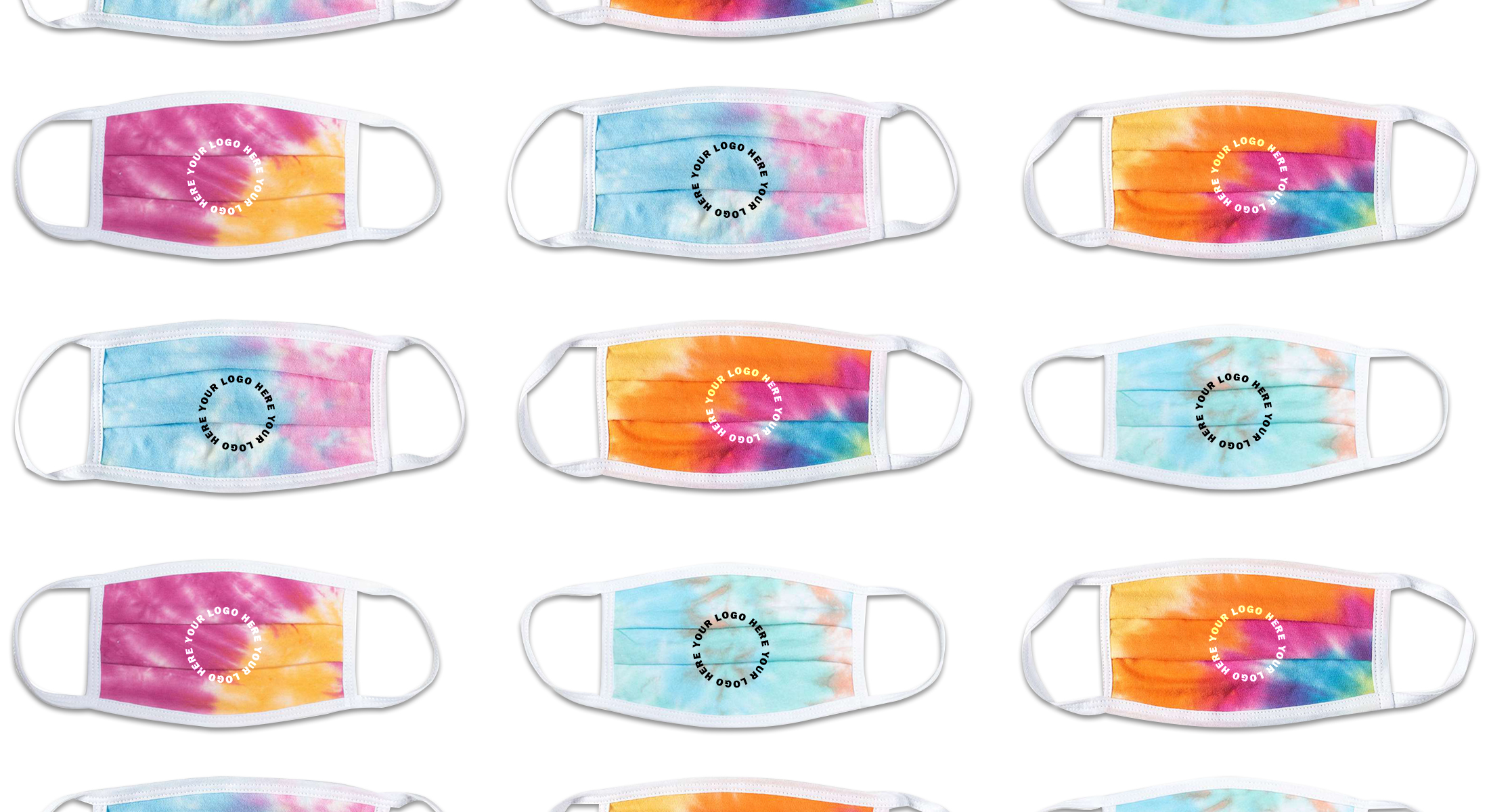 Branded Tie Dye Face Masks – Made In The USA