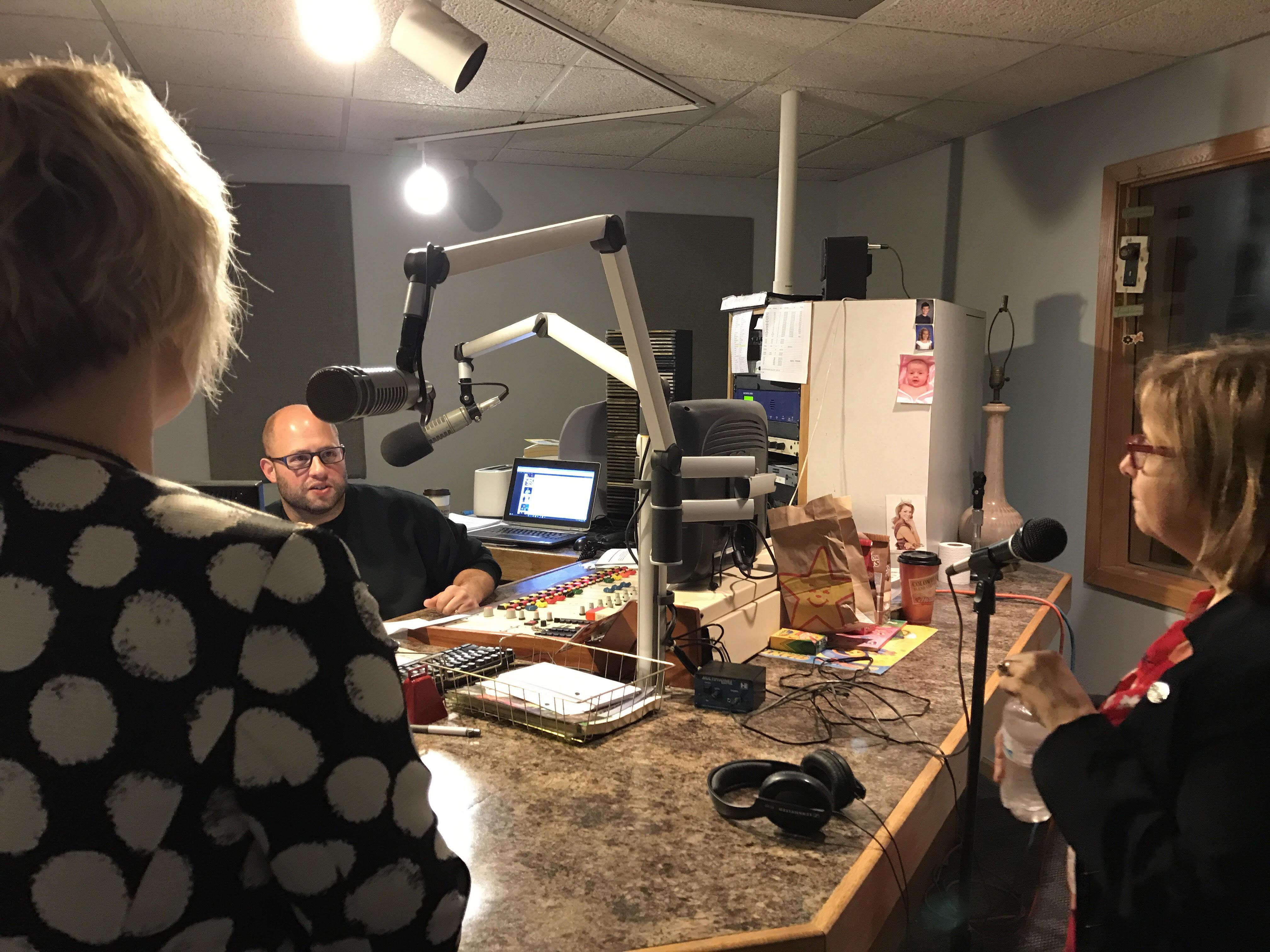 Y105 host Chris Farber and Region 4 Advisor, Kelly Nielsen
